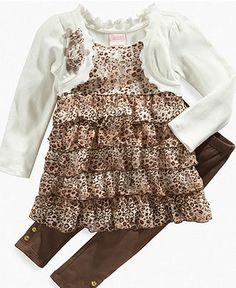 Nannette Kids Set, Little Girls Shrug Tunic and Leggings - Kids - Macy's