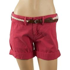Pre-Owned Sanctuary Liberty Red 100% Cotton Shorts ($33) ❤ liked on Polyvore featuring shorts, red, red shorts, red cotton shorts, cotton shorts and sanctuary shorts