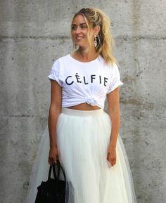 Outfit tutu tulle white