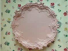 Pink Silver Plate Tray Silver Plate Footed by VintageMetalsReborn Vintage Vanity, Vintage Metal, Unique Vintage, Pink Chalk, Chalk Paint, Bathroom Vanity Tray, Perfume Tray, Jewelry Tray, Metals