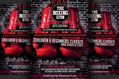 Boxing Gym Flyer Template by Hotpin on @creativemarket