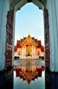 Wat Benchamabophit,The Marble Temple , Bangkok, Thailand by Atipan Khantalee (Thailand) on 500px