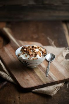 A riff on my favorite traditional granola that is date-sweetened. Perfect for topping a yogurt parfait, sprinkling on fresh fruit, or eating as is!