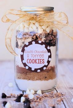 Double Chocolate & Toffee Cookies