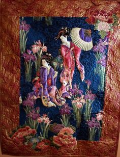 asian art + geisha images | Asian Art Quilt Wall hanging Geisha Girls | AsianArtAndQuilts - Quilts ...