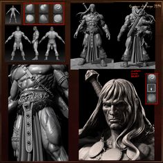 Conan by Fracture.  Comicon Challenge 2014 Entrant.  Sculpting Breakdown.