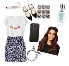 """""""Meal with sister"""" by clxaudxpxrry ❤ liked on Polyvore featuring bleu, Monki, Topshop and NLY Accessories"""
