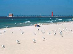 Petoskey Beach on Lake Michigan  External Link  Grand Haven Beach, Lake Michigan....wonderful Michigan summers!