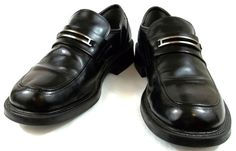 Skechers Shoes Mens Size 10 M Black Leather Loafers #SKECHERS #LoafersSlipOns