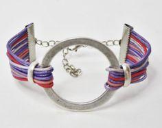 Pastell rosa Armband Womens Leder Armband Womens Armband Multi Strand Armband Lederarmbänder für Frauen