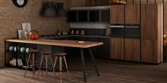 kuchnia w stylu loft  #kitchen  #interiordesign #2016trends see more: dom-wnetrze.com
