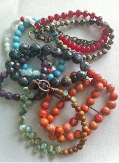 mixture of handmade bracelets