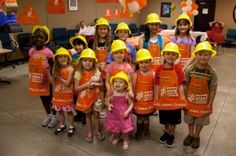 Birthday Party at Home Depot where they get to build stuff?  We're so doing this next year!