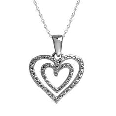 Women's Double Heart Diamond Pendant in Sterling Silver. Women's Double Heart Diamond Pendant in Sterling Silver. Great gift idea for Mom, birthday and Valentine. 5 white and colored diamonds. FREE 18 inch chain is included. Solid 925 Sterling Silver GUARANTEED, Authenticated with a 925 Stamp. As a responsible citizen of civil society, Diamond Hub has applied stringent policies and checks to ensure that all our products are conflict-free.