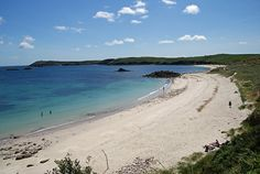 The north side of the island - Little Bay with Great Bay beyond, Scilly Isles, Cornwall