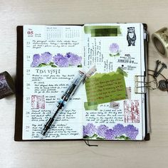 Week 21 layout. I am normally not a big fan of floral designs but this hydrangea washi tape is so gorgeous, it has made it onto my favourite list. . . . . #travelerscompany #travelersfactory #travelersnotebook #midoritravelersnotebook #midoricharms #journal #journaling #reetjournals #washitape #washi #washitapeaddict #rubberstamp #chamilgarden #chamilgardenstamps #classiky #fountainpen #toolstoliveby #layout #flatlay #journaladdict #planneraddict #planneraddictmalaysia #plannercommunity…