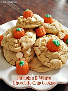 Pumpkin & White Chocolate Chip Cookies at Jam Hands