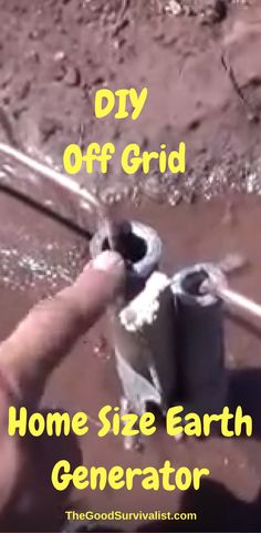 If SHTF, and the grid goes down it's nice to know that if you had to start all over again you could generate electricity with some simple materials. http://www.thegoodsurvivalist.com/off-grid-home-size-earth-generator/