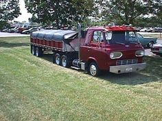 I remember seeing this truck in an old Overdrive mag. Made from a Ford Econoline van.
