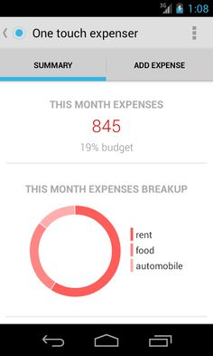 One Touch Expenser is a useful and neat budget and expense management application for #Android - http://en.softmonk.com/android/one-touch-expenser/