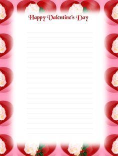 Valentine LetterWriting Stationery  Click on an image to View