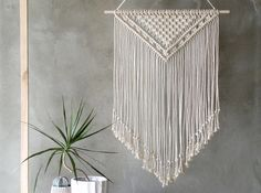 LARGE Macrame Wall Hanging, Macrame Wall Hanging, Large Macrame, Modern Macrame, Wall Hanging Macrame, Scandinavian Modern, Large Wall Art by MOXmacrame on Etsy https://www.etsy.com/listing/528217453/large-macrame-wall-hanging-macrame-wall