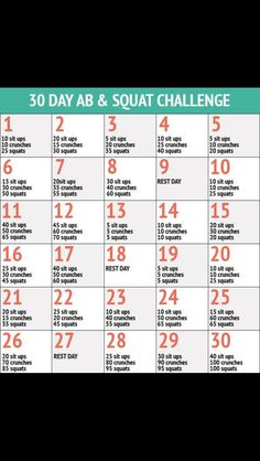 30 day workout (ab & squats)