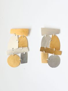 Annie Costello Brown PARADISO COLLAGE Earrings - MIXED METAL