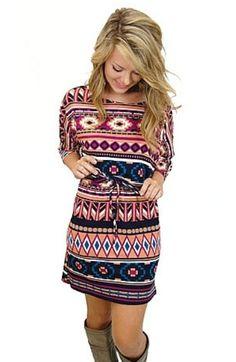 Cute aztec print dress!