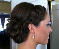 Wedding up do for bridesmaid