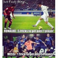 Haha! What do you choose? I choose Messi's style.