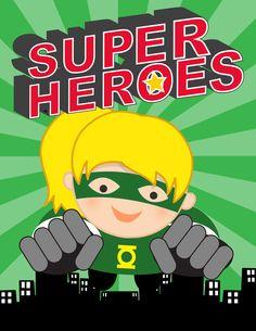 SUPER HERO Theme Classroom Decor / Student Binder Covers / editable MS Word / you personalize / Superman / Batman/ Green Lantern / Captain America / ARTrageous FUN