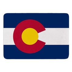 KESS InHouse Colorado State Flag by Bruce Stanfield Memory Foam Bath Mat