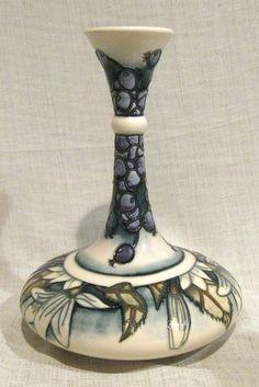 "Moorcroft 9 1/4"" Juneberry Vase by Anji Davenport"