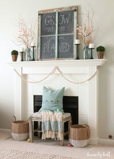 Sweet Spring Cottage Mantel Ideas