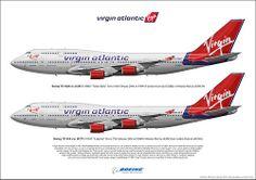 Virgin Atlantic Boeing 747-4Q8 41R G-VBIG G-VAST Custom Art