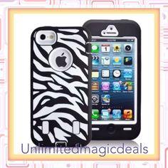 Zebra Defender Case Cover With Built In Screen For Appel Iphone 5 5G #UnbrandedGeneric