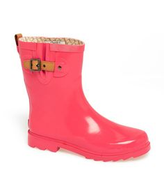 Pink! Chooka Top Solid Mid Height Rain Boot (maybe if they go in the 50% off rack)