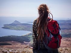 Arran view #hiking #mountains #Isle #of #Arran #backpacking #mountains #dreadlocks #sea #Goatfell