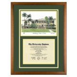 University of Hawaii Diploma Frame with UH Lithograph Art PrintBy Old School Diploma Frame Co.