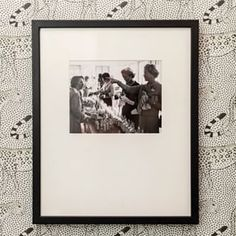 """A vintage photograph in my powder room tells the story of stylish women seeking the perfect fragrance. """"Long after one has forgotten what a woman wore, the memory of her perfume lingers. Family Of Five, Classic House, Open Concept, Vintage Photographs, Powder Room, Christian Dior, Bedrooms, Fragrance, Perfume"""