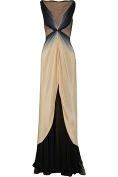 STOP IT. So pretty it hurts. Ombré silk gown, beautiful.  Wish I had some place to be in THIS!