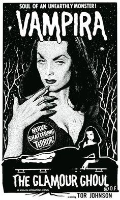 Vampira...  The Gothie Pinup!