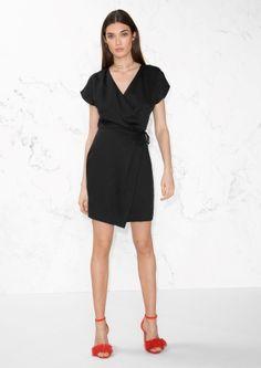 Wrap Dress - Black - & Other Stories