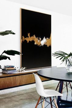 Vertical Painting, Black Painting, Gold Painting, Acrylic on canvas, Vertical art, Handmade artwork, Long canvas, black art, gold abstract Artist: Ron Deri Materials: Canvas Color Type: Acrylic Colors Design: Black & Gold Sizes: 100 cm X 80 cm - 39 X 31 INCH (Choose in size menu) 120 cm X 80