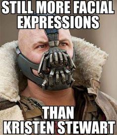 Hahahaha!! And Tom Hardy > Kristen Stewart