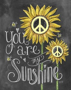 ☮ American Hippie Art ☮ Sunshine Peace Sign