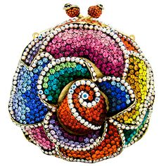 aaaaaahhh!!...just about the cutest thing I have EVER seen!!!  ♥♥♥  Swarovski Crystal Round Flower Clutch Bag Multi ♥♥♥