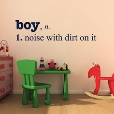 kids playroom vinyl wall decal @Kenna Oberbrockling so true though
