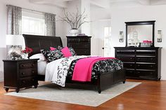 Pretty updated sleigh bed.  Move-in ready!